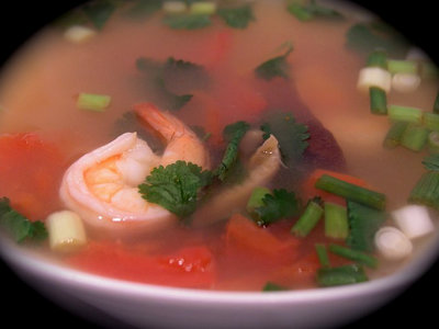 Thai Hot and Sour Shrimp Soup (Tom Yum Goong)