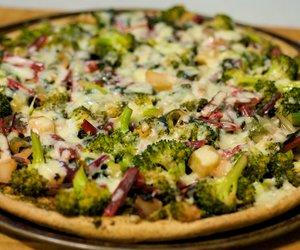 Cheesy Green Garden Pizza