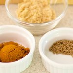 Curry powder, brown sugar and cumin