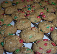 M&M Peanut Butter and Chocolate Cookies