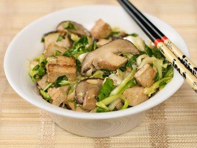 Asian Slaw with Tofu & Shiitake Mushrooms