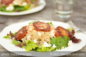 Fried Tomatoes with Mint Couscous