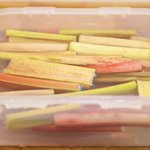 Soak the rhubarb in 1 gallon cold water for 20 minutes.