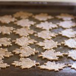 Transfer crackers with a spatula onto prepared baking sheets. Keep 1/4 inch space.