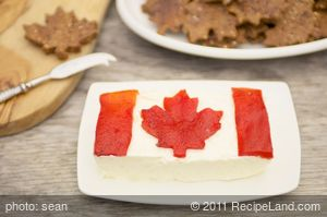 Canadian Flag Garlic Cheese Spread (Canada Day)