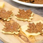 Make some cracker sandwiches with cheddar cheese, yum!