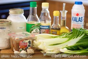 Stir-Fried Bok Choy with Chinese Sauce