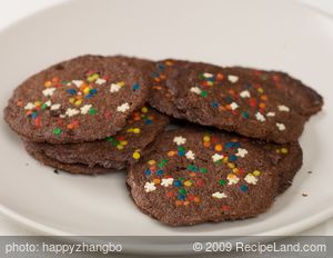 Chocolate Mint Christmas Cookies