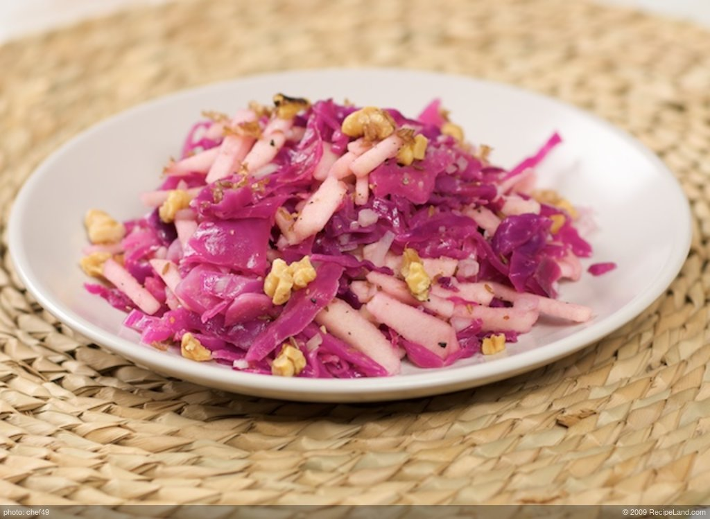 Warm Red Cabbage and Apple Salad