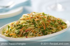 Kohlrabi, Carrot and Radish Slaw with Toasted Cumin Vinaigrette
