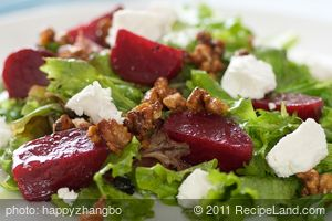 Roasted Beet Salad with Honey Roasted Walnuts