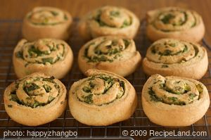 Christmas Herbed Pinwheel Biscuits