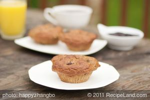 Blueberry, Banana and Apple Oatmeal Muffins