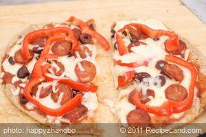 Grilled Chorizo Pizza