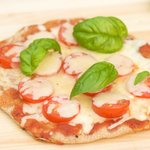 Grilled Tomato and Mozzarella Pizza with Basil