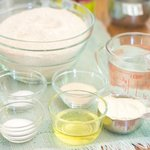 Gather together all the ingredients to make this fantastic pizza dough.