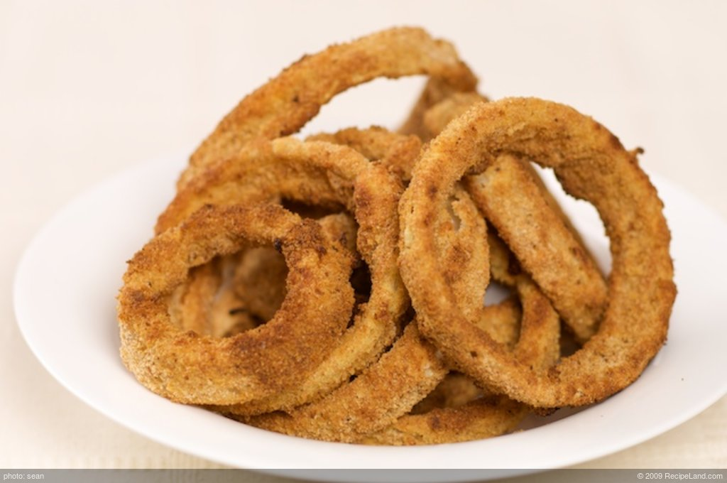 Crispy Oven Fried Onion Rings