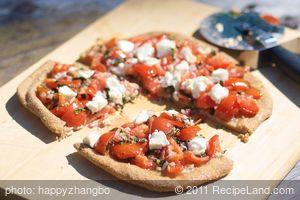 Bruschetta Pizza with Garlic-Olive oil