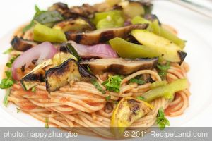 Pasta with Grilled Summer Vegetables