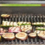 Grill until one side is well grilled and marked about 5 minutes,