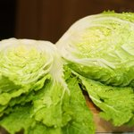 Cut the cabbage into half lengthwise.