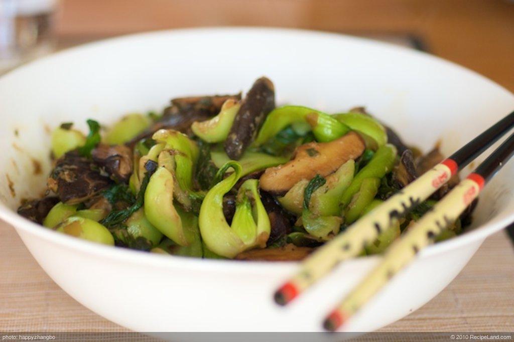 Bok Choy and Shitake Mushrooms