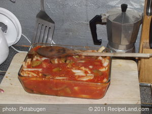 Aubergine roasted in Tomato Sauce