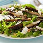 Grilled Portobello and Arugula Salad with Gruyere