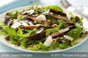 Grilled Portobello and Arugula Salad with Gruyere