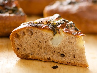 Onion, Sage and Mozzarella Focaccia