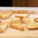 Then toast the bread in a toaster oven,