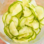 After 10 minutes, drain the cucumber in a colander, then rinse under cold water and squeeze out excess water.