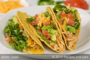 Quick Pulled Chicken Tacos
