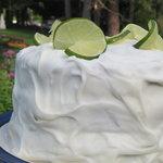 Three Layer Tropical Lime Cake