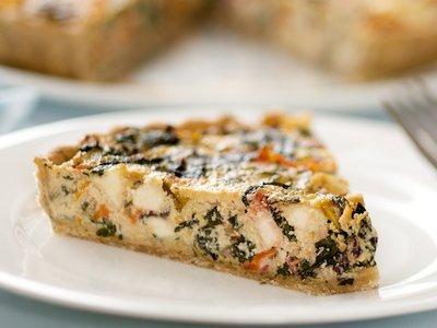 Mediterranean Chard, Feta and Olive Tart