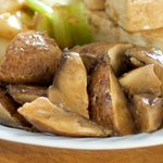 Well marinated mushroom chunks.