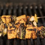 On a closed grill, grill the skewers for 12 to 15 minutes, turning to cook all sides.