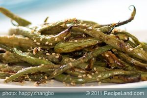 Asian Roasted Sesame Green Beans