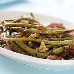 Place onto a serving platter, top with toasted walnuts and enjoy!