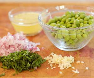 Skillet Peas with Red Onion and Mint