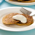 Serve the pancakes with sour cream or plain yoghurt.