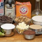 These are the ingredients we need to make these yummy brownie cookies.