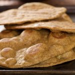 Baked Flatbread with Garlic (Lahsooni Naan)
