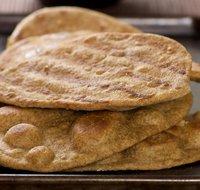 Baked Flatbread with Garlic (Lahsooni Naan)