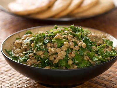 Curry Lentils and Kale