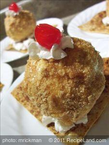 Cinnamon 'Fried' Ice Cream