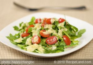 Arugula Salad With Lemon Parmesan Dressing