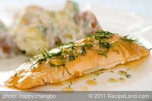Maple-dill Roasted Salmon
