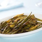 Tasty and flavorful roasted green beans.