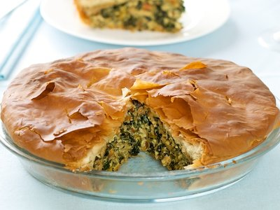Chard, Kale and Cheddar Phyllo Pie